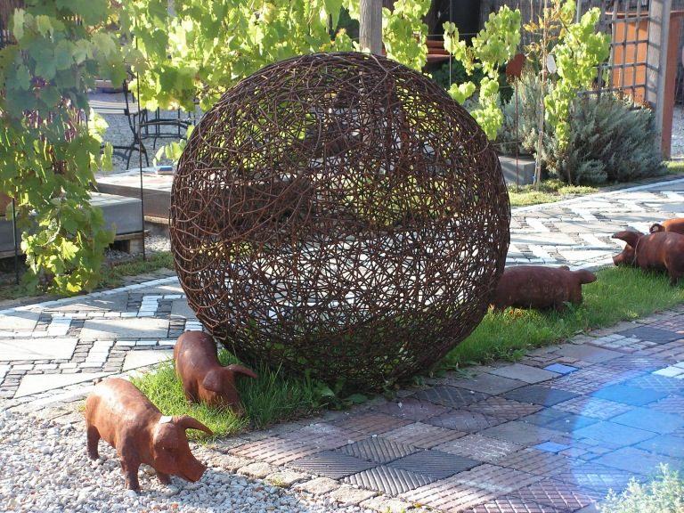 kunst aus stahl im garten | siteminsk, Garten und bauen